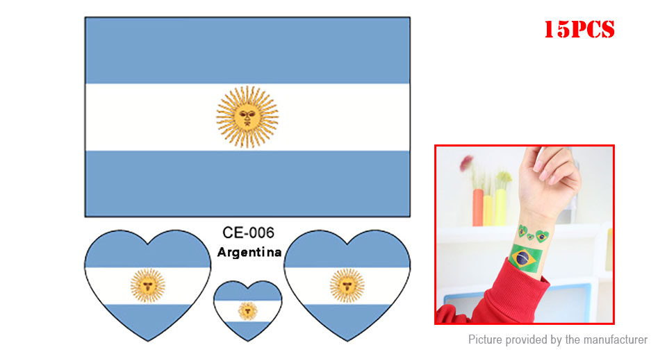 176 2018 Fifa World Cup Argentina National Flag Fans Temporary