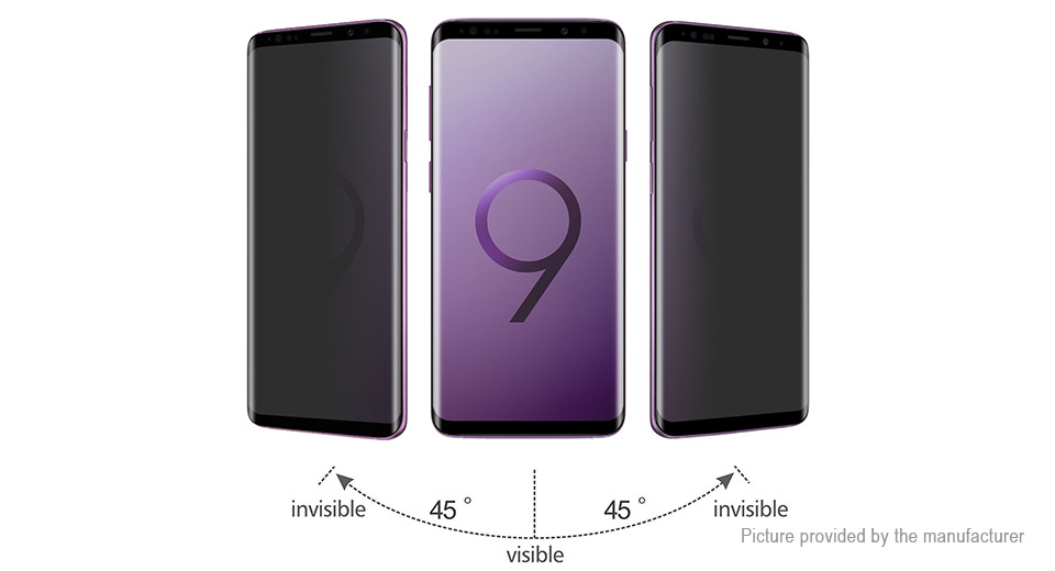 Hat.Prince 3D Tempered Glass Privacy Screen Protector for Samsung Galaxy S9+