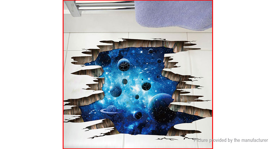 3D The Milky Way Broken Styled Removable Floor Wall Sticker Home Decor (2-Pack)