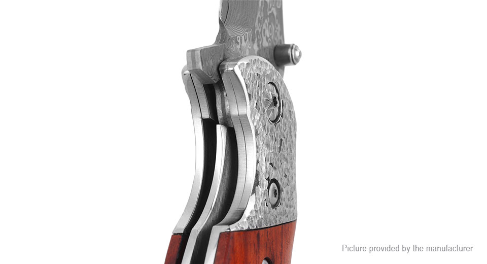 FURA·GEAR Outdoor Survival Damascus Steel Folding Knife