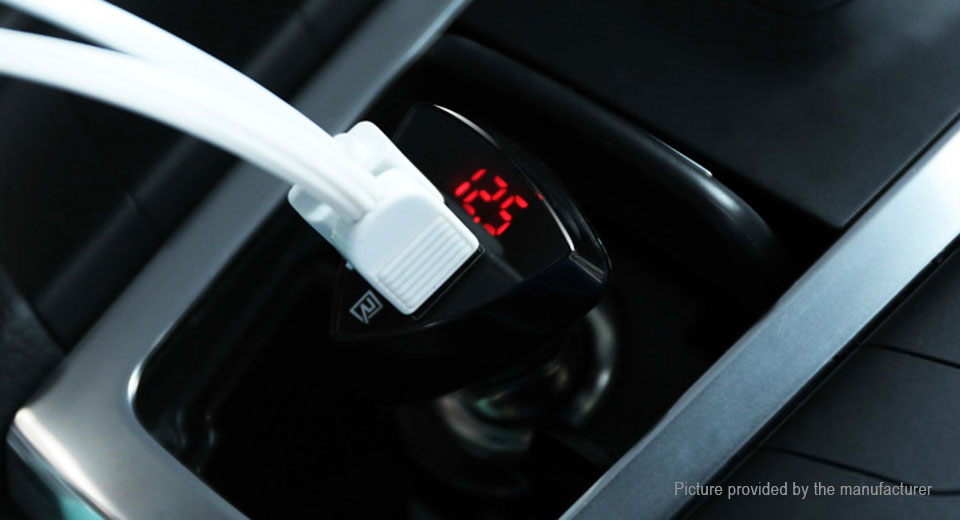 Authentic REMAX RCC-208 Dual USB Car Cigarette Lighter Charger Power Adapter