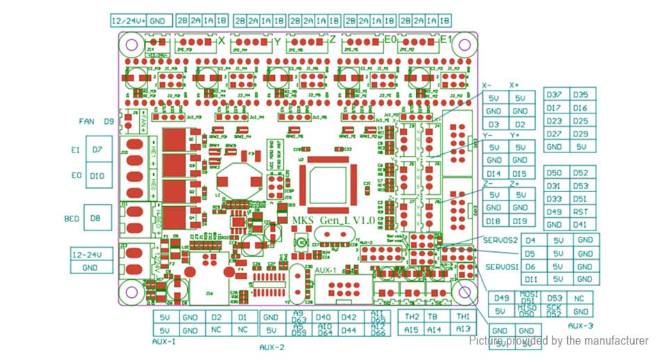 Makerbase MKS Gen-L V1 0 Integrated Motherboard for 3D Printer