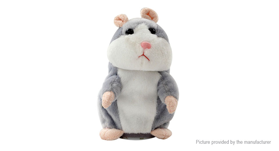 9 44 Lovely Talking Plush Hamster Voice Recording Early Education