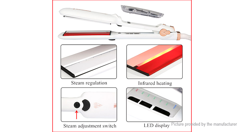 NM-088Plus Professional Steam & Infrared Heating Hair Straightener (AU)