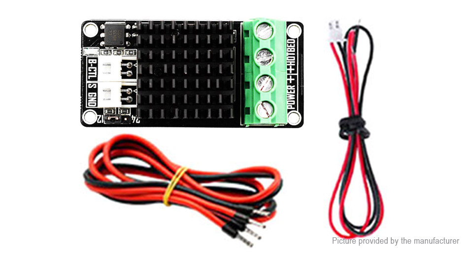 Heating Bed MOS Mini Module + 15A Power Cable + Signal Control Cable for 3D Printer