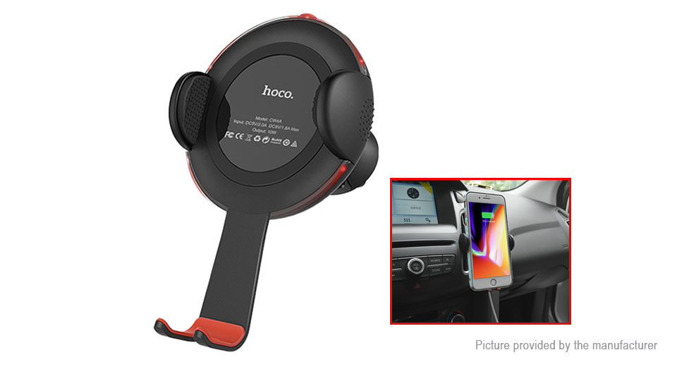 Authentic hoco CW4A Car Air Vent Mount Qi Inductive Wireless Charger Holder Stand