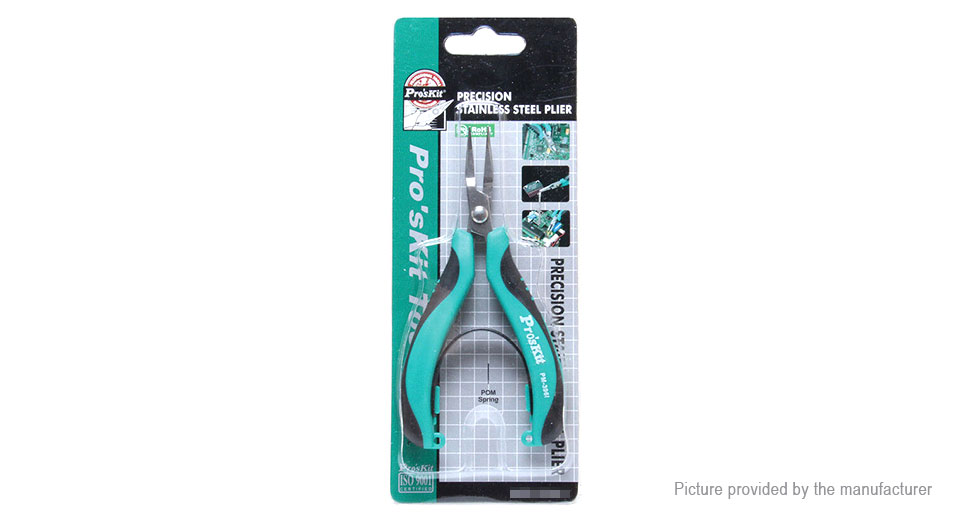 Pro'sKit PM-396I Stainless Steel Bent Nose Pliers