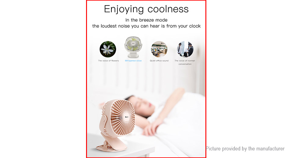 Baseus USB Rechargeable Desktop Clip-On Mini Cooling Fan