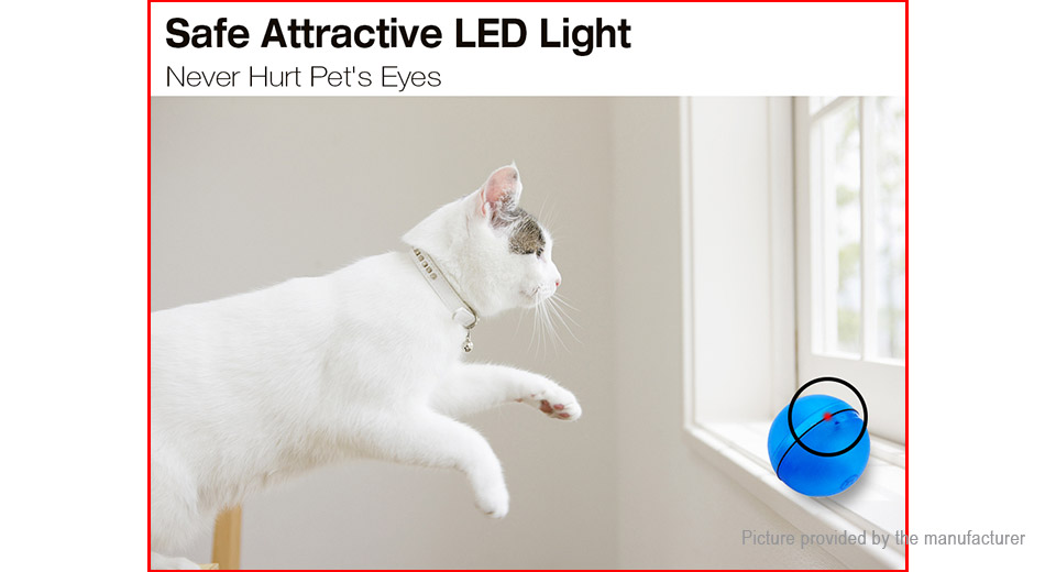 Electronic Automatic Rolling Ball LED Light Pet Cat Toy