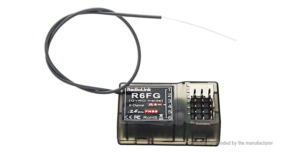 Product Image: authentic-radiolink-r4fg-2-4ghz-6ch-fhss-receiver