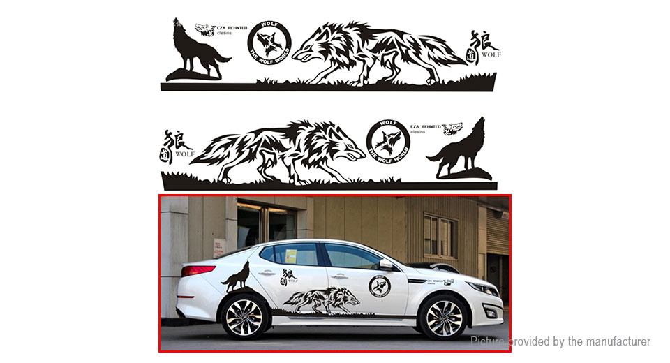 Wolf Totem Styled Car Decal Sticker Decoration