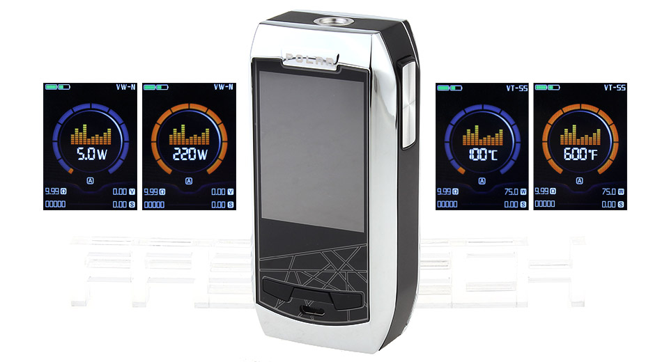 Authentic Vaporesso Polar 220W TC VV VW APV Box Mod