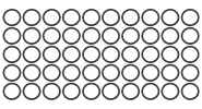 10*1mm: 50-Pack, Black