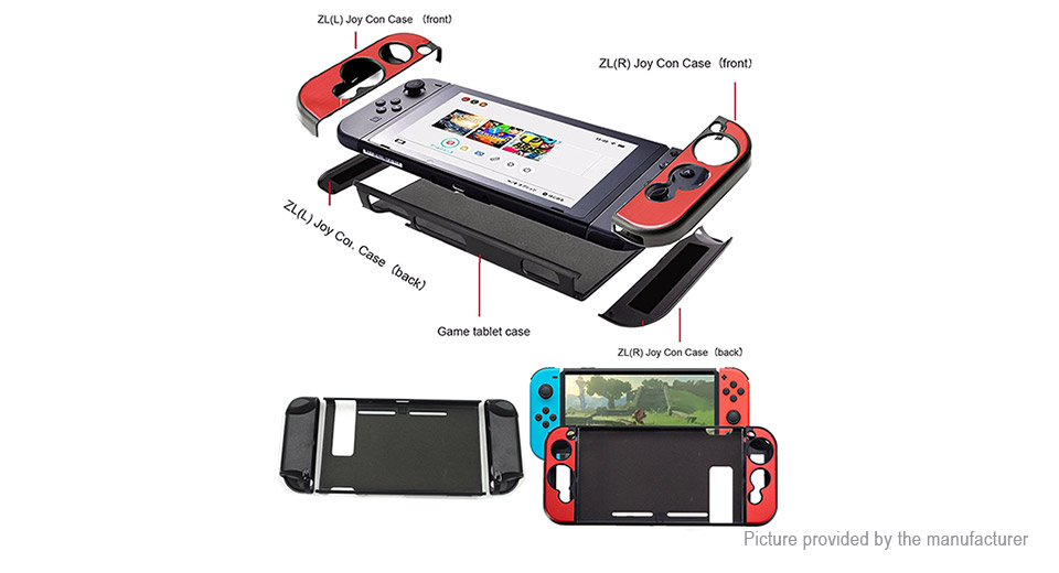 Aluminum Protective Case Cover for Nintendo Switch NS Console & Joy-Con Controller