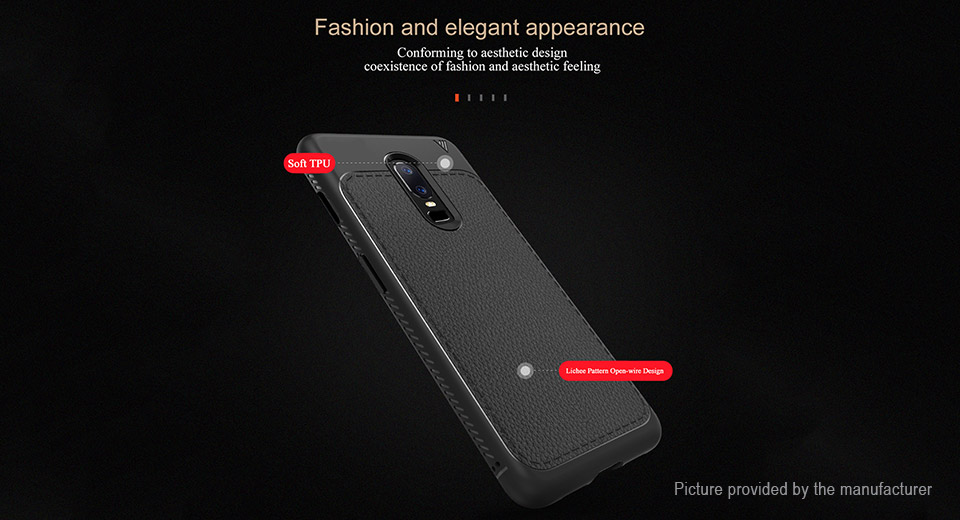 Lenuo TPU Protective Back Case Cover for OnePlus 6