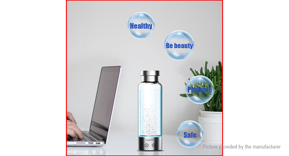 CloudCUP Portable Hydrogen-rich Cup Ionizer Maker Generator Water Bottle