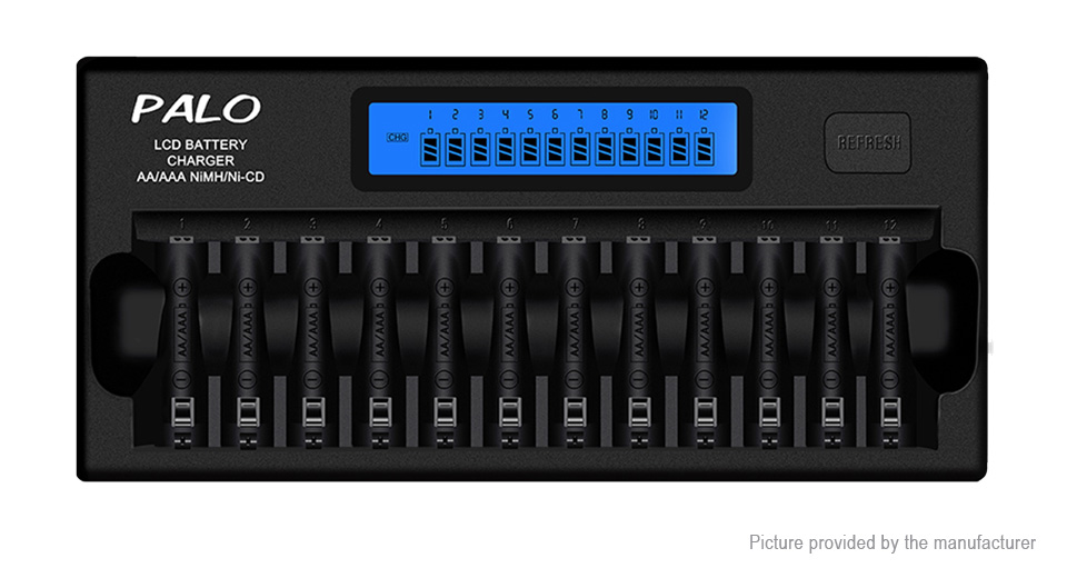 Product Image: palo-nc31-12-slot-intelligent-battery-charger-us