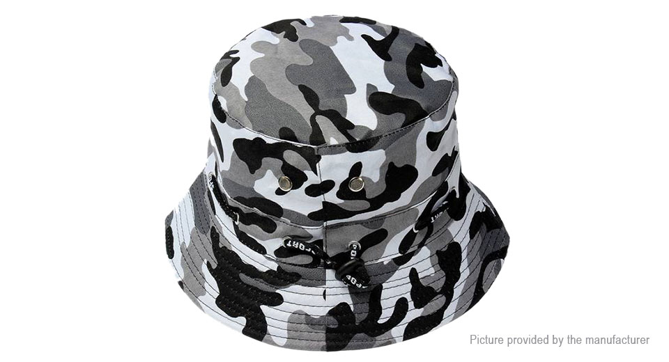 Men's Camouflage Outdoor Foldable Sunscreen Bucket Hat Cap