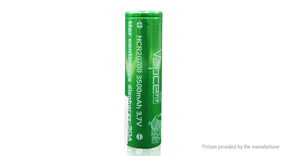 Product Image: vapcell-ncr-20700-3-7v-3500mah-rechargeable-li