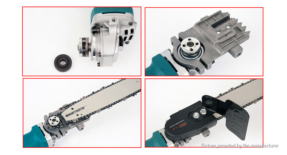Electric Handheld Woodworking Angle Grinder Chain Saw Kit (CN)