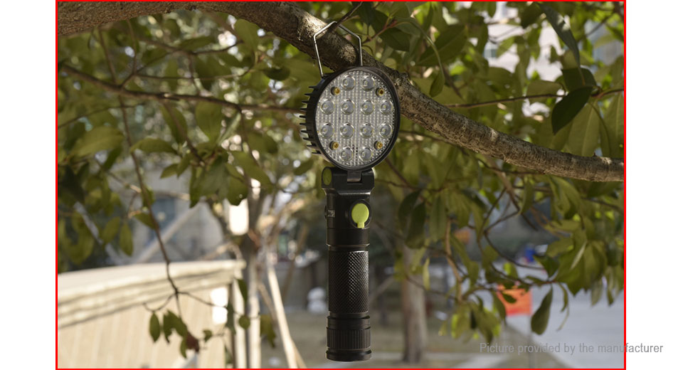 Yunmai 190-A LED Flashlight Work Light w/ Focus Zoom