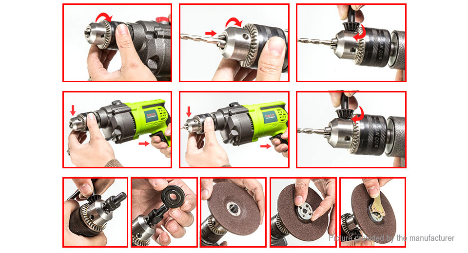 FLS 13mm Electric Hand Drill Screwdriver Tool (CN)