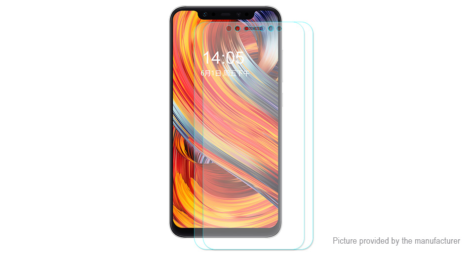 Hat.Prince 2.5D Tempered Glass Screen Protector for Xiaomi Mi 8 (2-Pack)