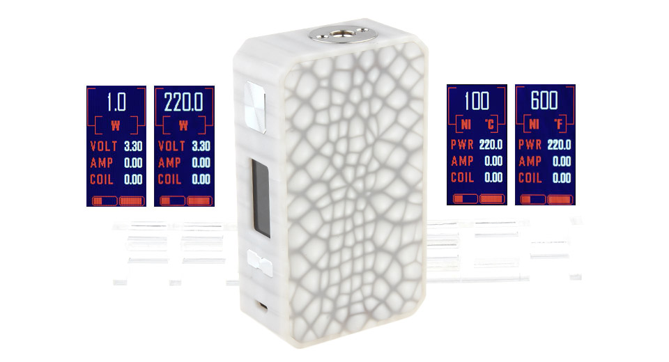 Authentic Eleaf Saurobox 220W TC VW APV Box Mod
