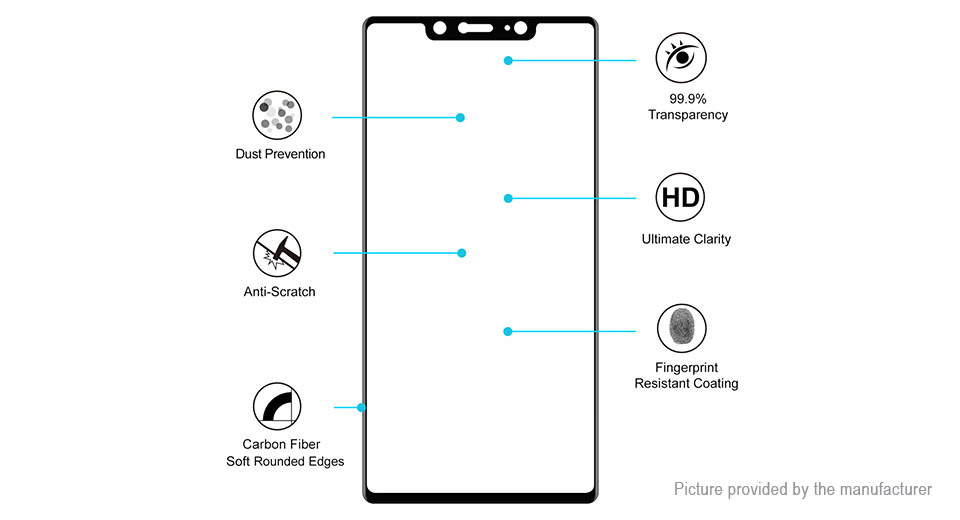 Hat.Prince 3D Tempered Glass Screen Protector for Xiaomi Mi 8 SE