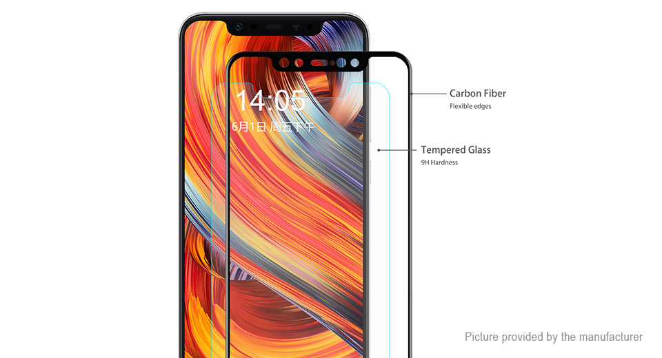 Hat.Prince 3D Tempered Glass Screen Protector for Xiaomi Mi 8
