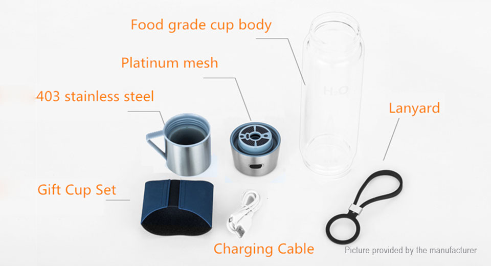 XIAOMAOTU Portable Hydrogen-rich Cup Ionizer Maker Generator Water Bottle