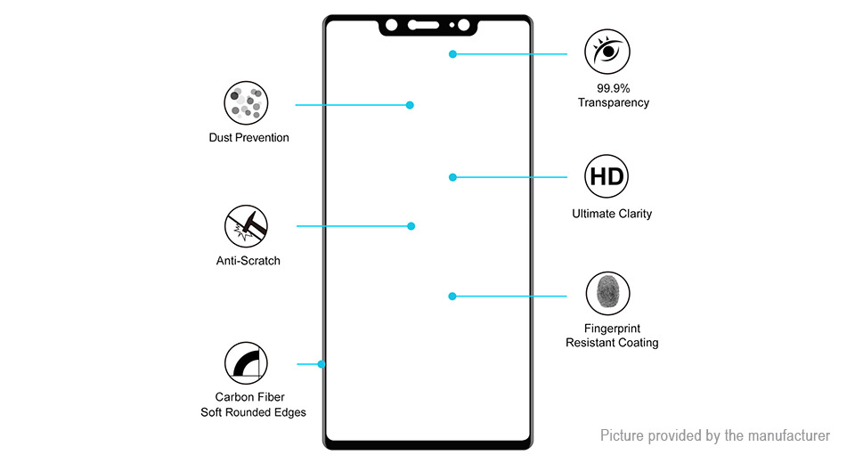 Hat.Prince 3D Tempered Glass Screen Protector for Xiaomi Mi 8 SE (5-Pack)