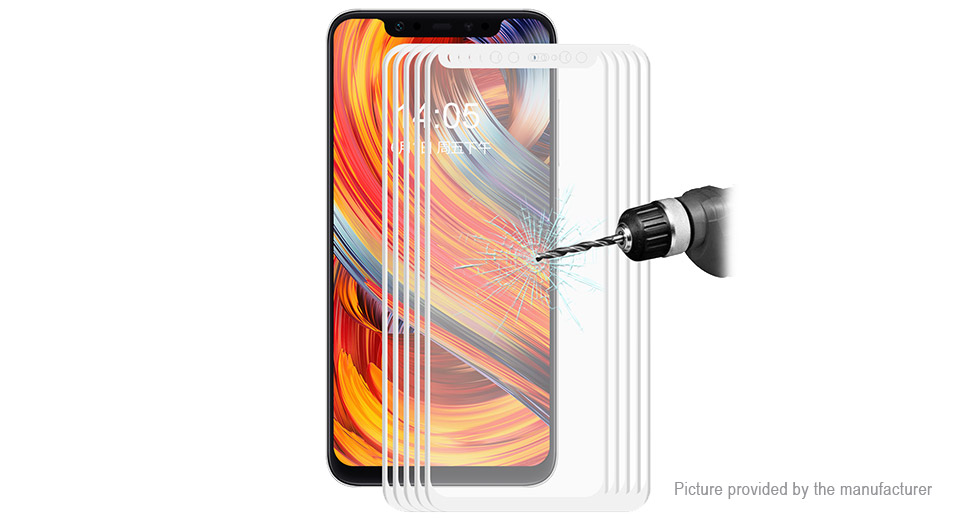 Hat.Prince 3D Tempered Glass Screen Protector for Xiaomi Mi 8 (5-Pack)