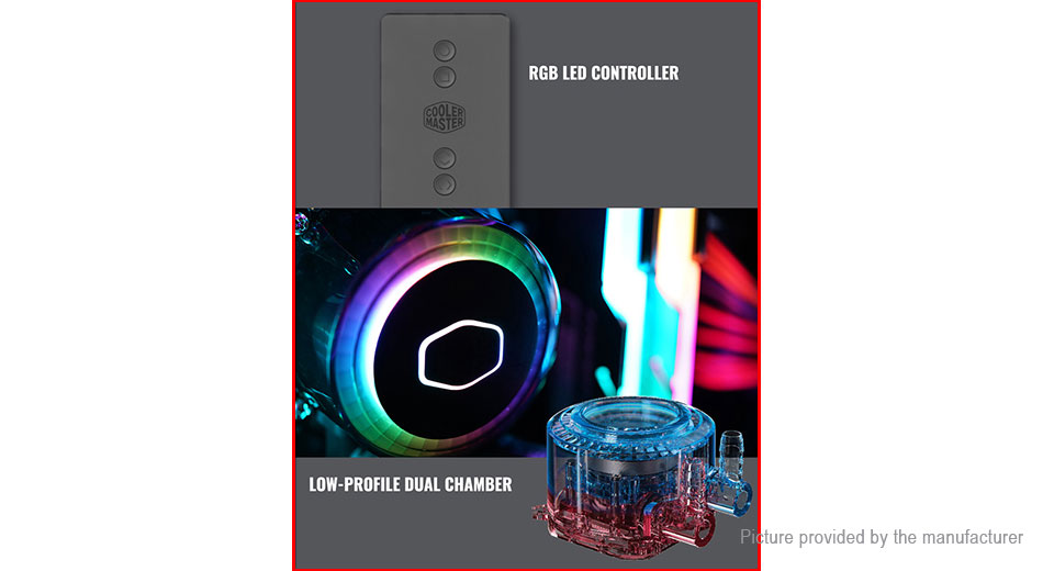 Authentic Cooler Master G120 RGB LED AIO Water Cooling CPU Cooler