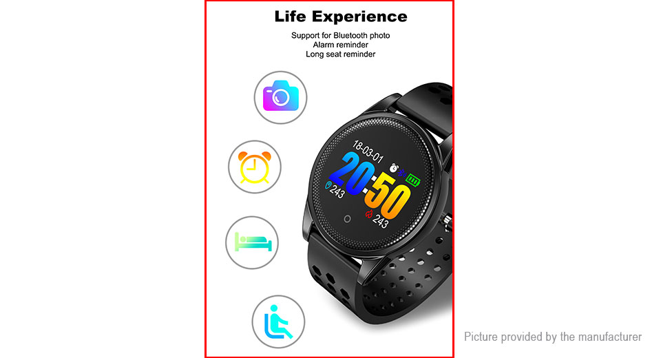 "LYNWO M10 0.95"" OLED Touch Screen Smart Bracelet Wristband"