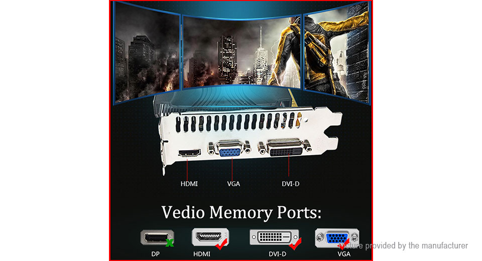 Mingying GTX650 1GB DDR5 5000MHz 128Bit Gaming Graphics Card