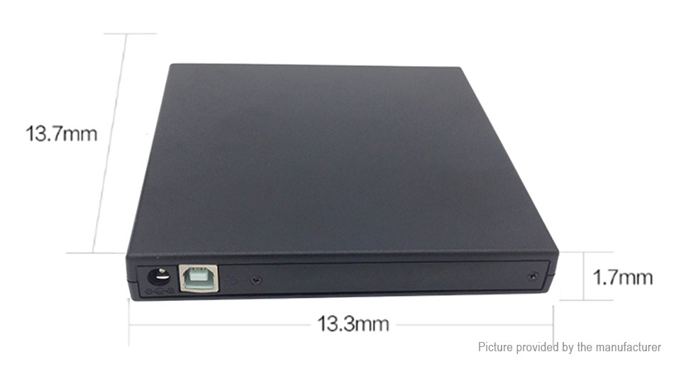 USB 2.0 External CD Burner CD/DVD Player Optical Drive