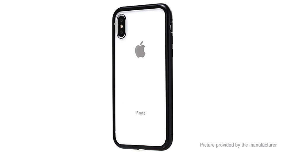 new style 6e6f2 94521 Magnetic Adsorption Flip-open Protective Case Cover for iPhone X