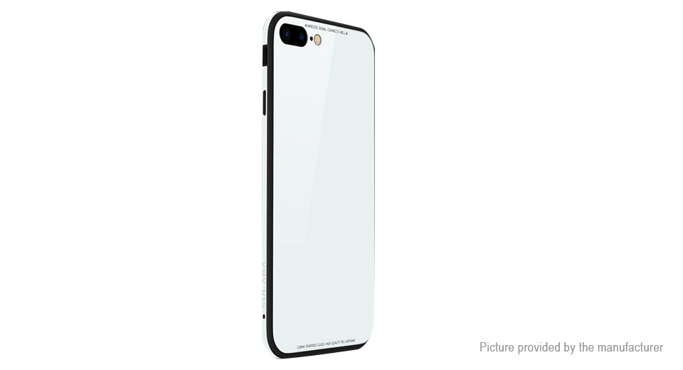 quality design 43aea 343e0 SULADA TPU + Metal + Tempered Glass Protective Case for iPhone 7 Plus/8 Plus