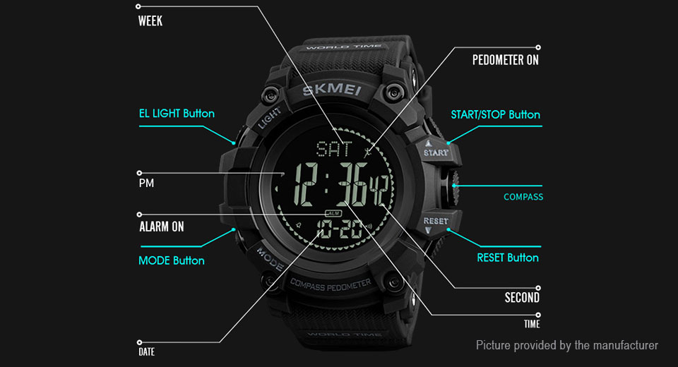 Authentic Skmei 1356 Men's PU Band Sports Digital Wrist Watch