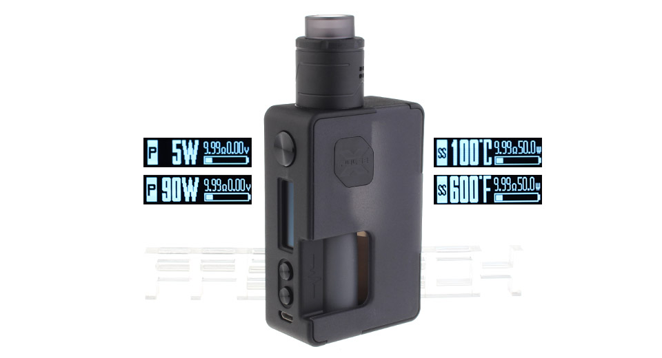 Authentic Vandy Vape Pulse X 90W Squonk TC VW APV Box Mod Kit