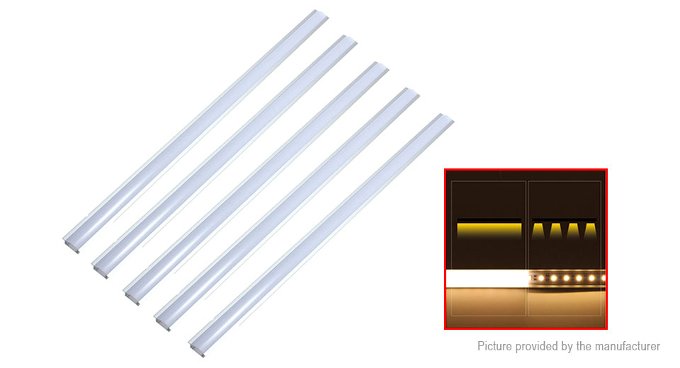 YW Shape LED Strip Light PC Cover Aluminum Channel (5-Pack)