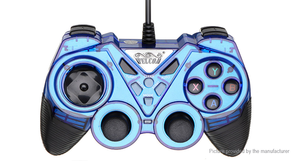 $14.24 WELCOM WE-8600 USB Wired Vibration Turbo Gamepad / Game ...