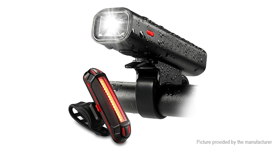 Bicycle LED Front Light + Tail Warning Light Set (GER)
