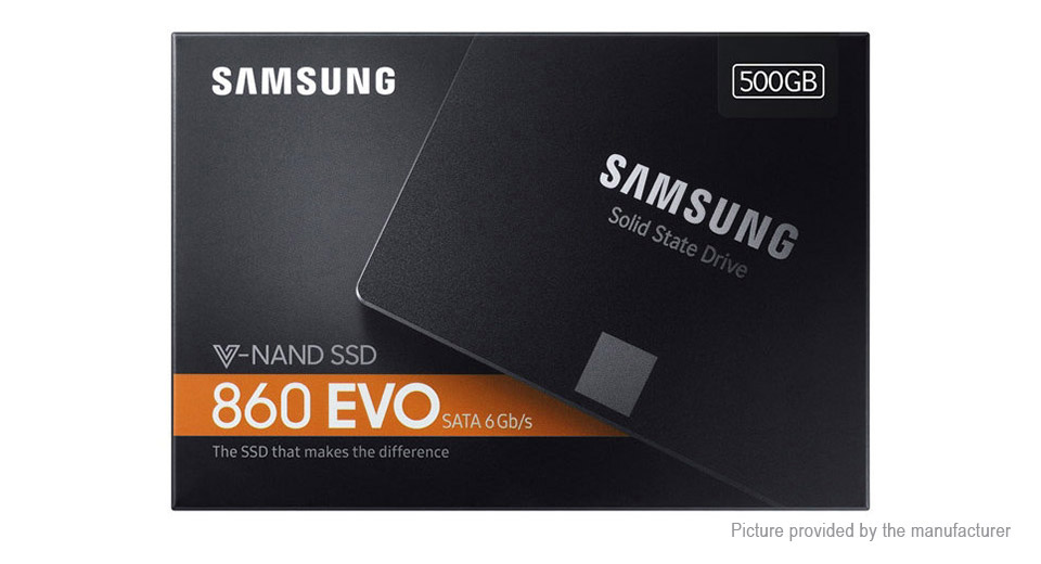 "Authentic Samsung 860 EVO 2.5"" SATA3 Internal SSD Solid State Drive (500GB)"