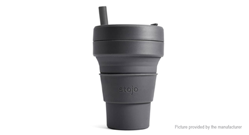 Authentic Stojo Food Grade Silicone Collapsible Pocket Coffee Cup (470ml)