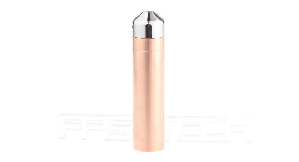 $12.60 Little Cannon Styled 18650 Mechanical Mod Kit - 1*18650 / copper + stainless steel at FastTech - Great Gadgets, Great Prices