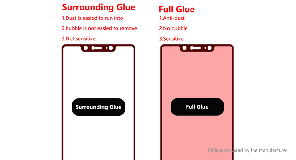 Hat.Prince Full Glue 2.5D Tempered Glass Screen Protector for Xiaomi Mi 8 SE