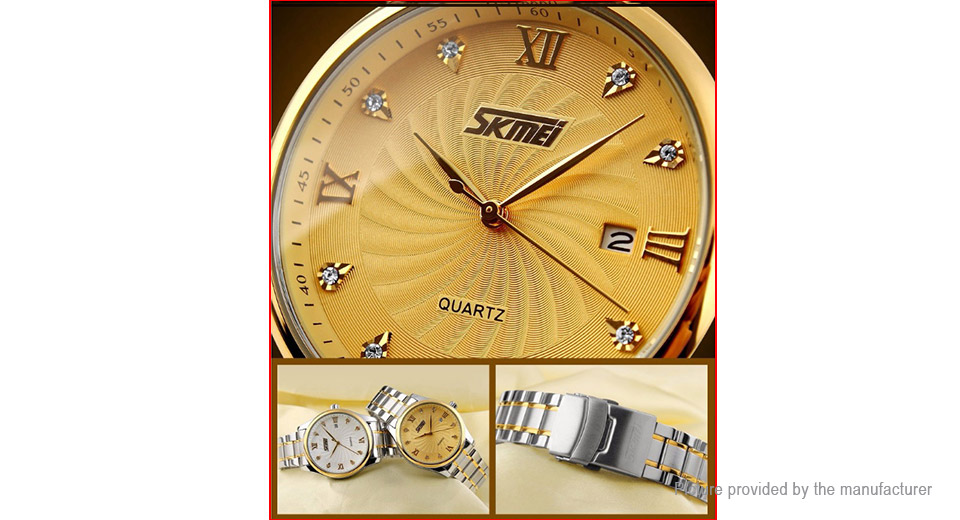 Authentic Skmei 9101 Men's Steel Band Analog Quartz Wrist Watch