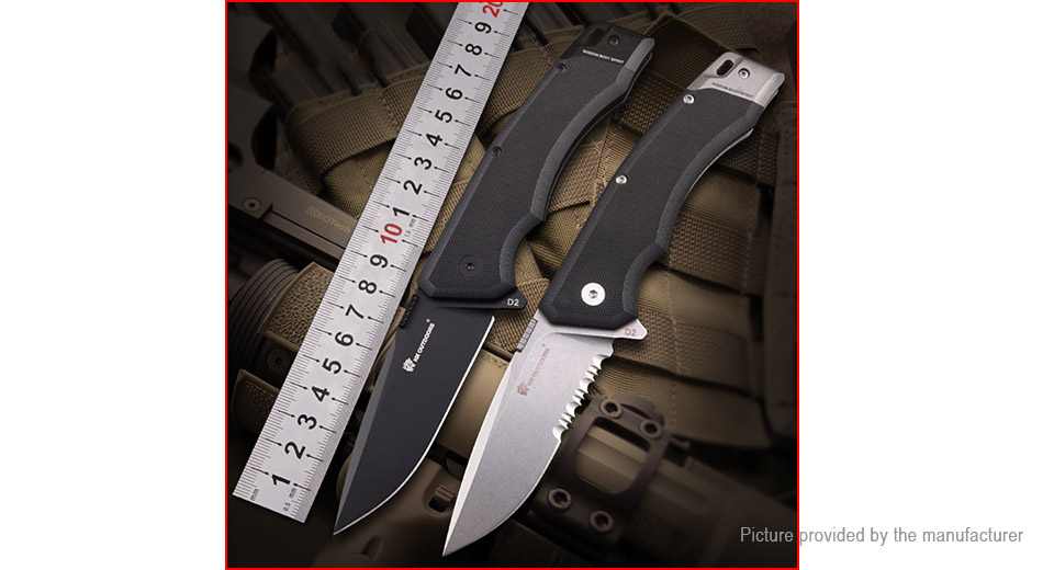 Knives, Swords & Blades New Authentic Hx Outdoors Td-10a Outdoor Survival Folding Knife Black